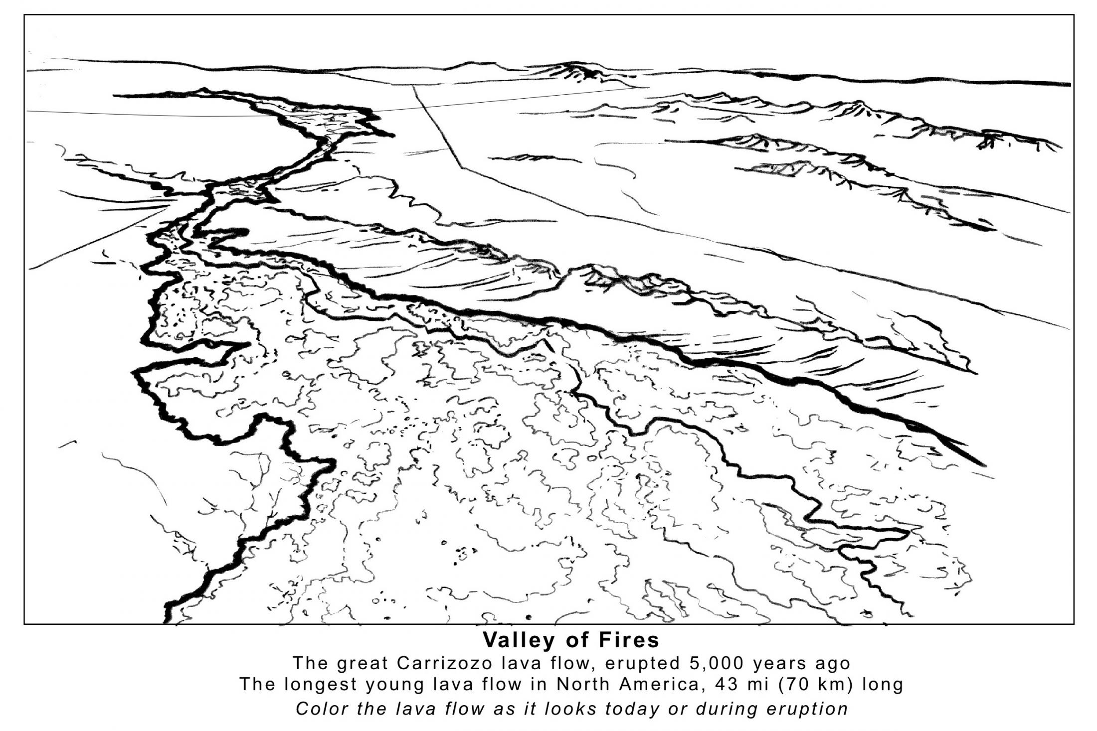 Valley of Fires Coloring Page