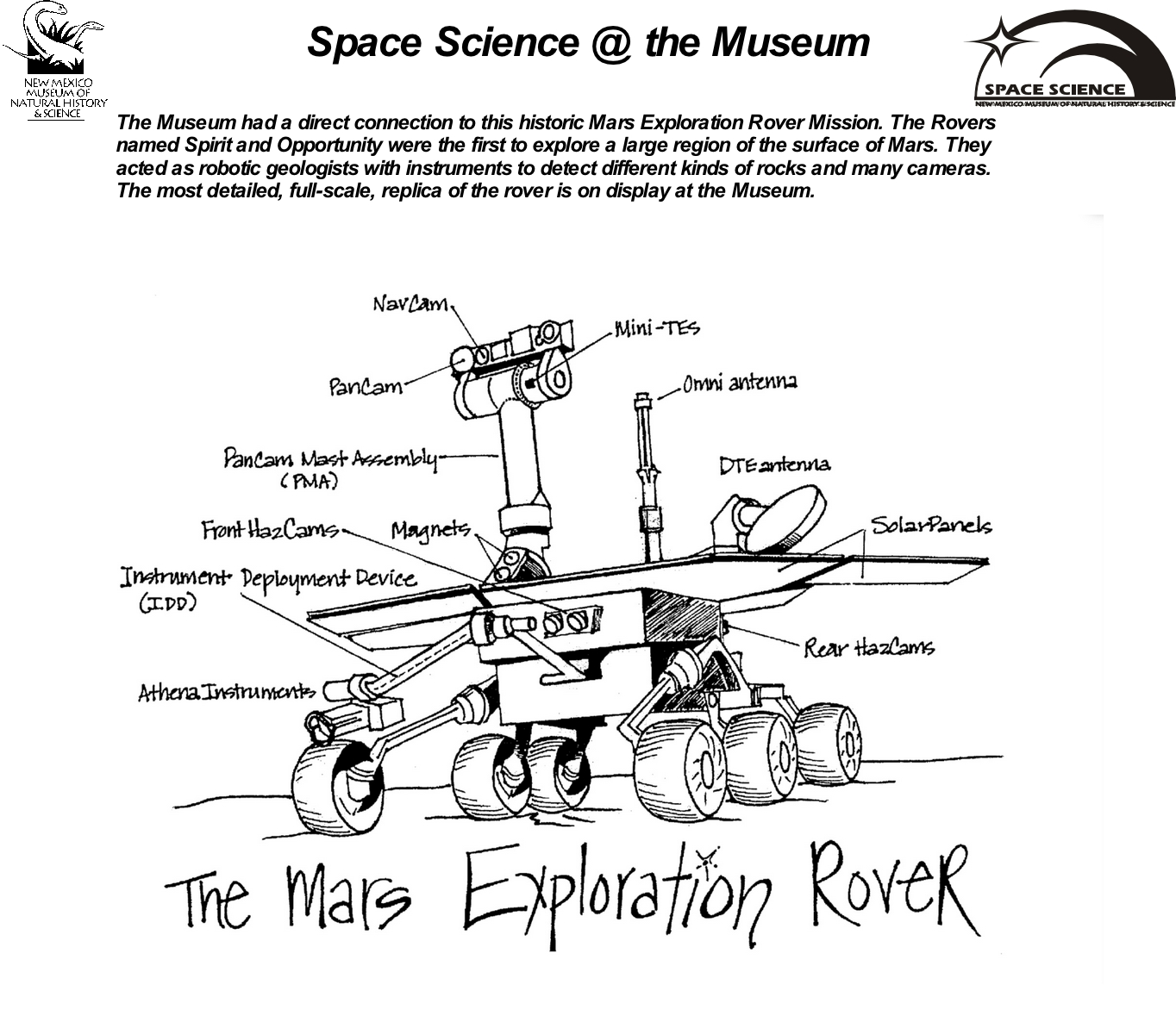 Mars Rover Coloring Sheet