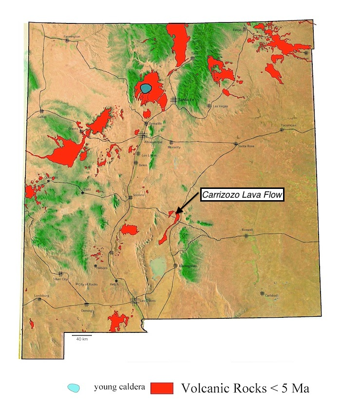 Carrizozo lava flow field | New Mexico Museum of Natural ... on map tx nm, map of cuba new york, map of cuba mo, map of cuba united states, map of cuba puerto rico, map of new mexico,