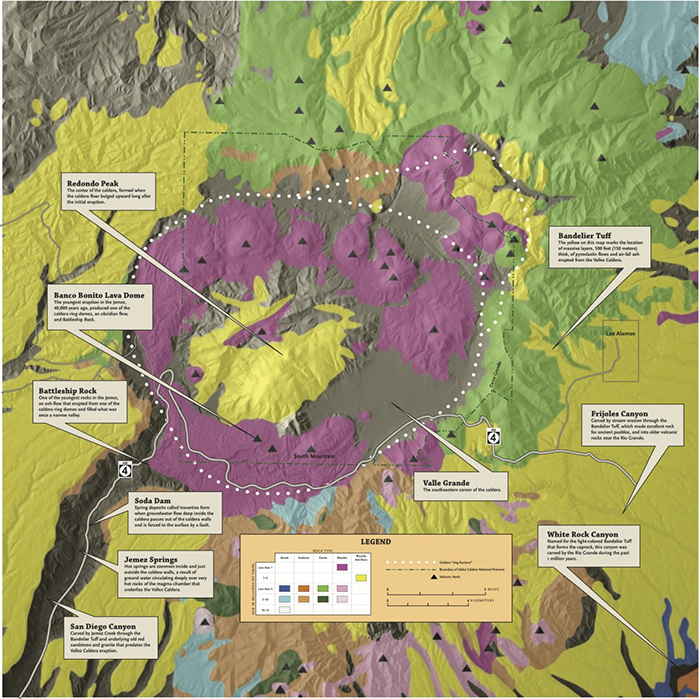 Valles Caldera Jemez Volcanic Field New Mexico Museum Of - Calderas in the us map
