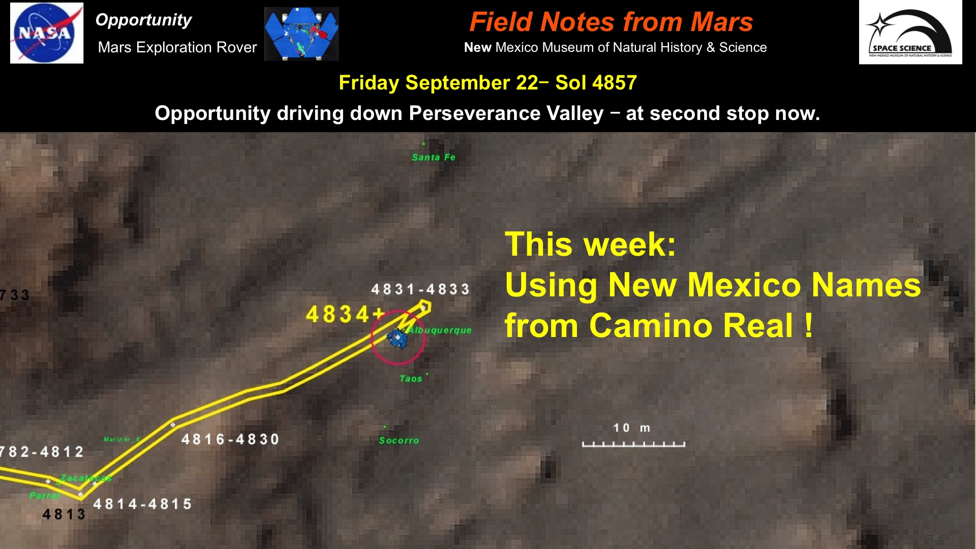 New Mexico how long does it take to travel to mars